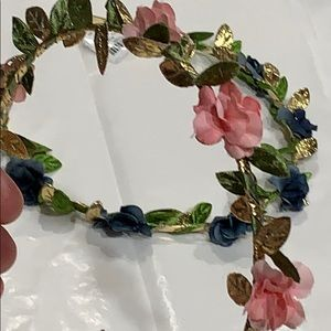 Floral & Gold Headbands in Coral & Teal! NWT
